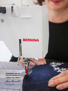 The Pattern Drafter Embroidery by Lou Robertson with Bernina Designer Plus Embroidery Software V8 Back Page Bernina Sewing Machine