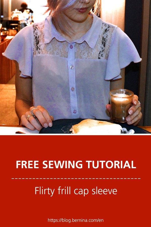 Free sewing pattern & instructions: Flirty frill cap sleeve