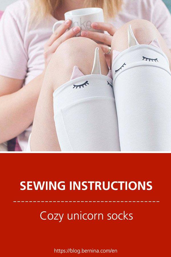 Free sewing instructions: Cozy unicorn socks