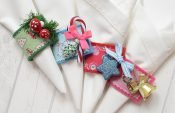 Easy instructions for sewing festive napkin rings