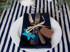 Easy instructions for sewing key rings as little presents for your dinner guests