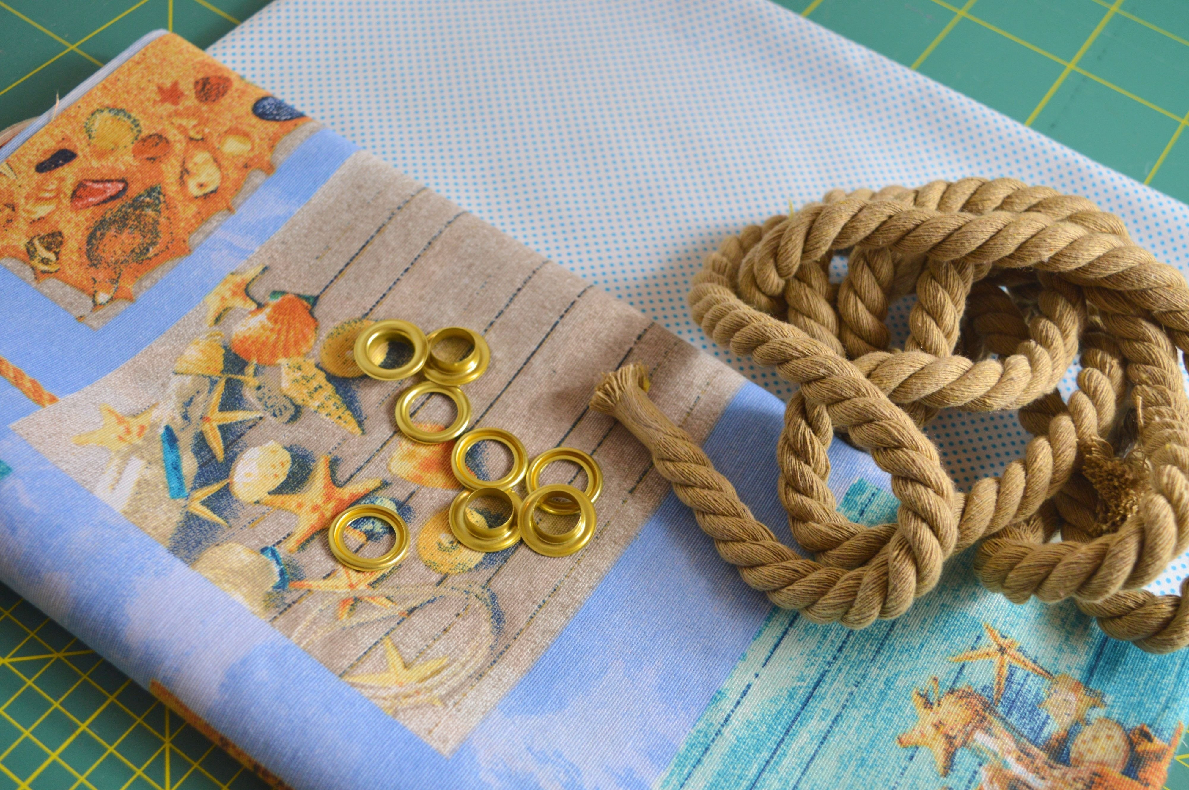 How to sew Beach Bag with Rope Handles