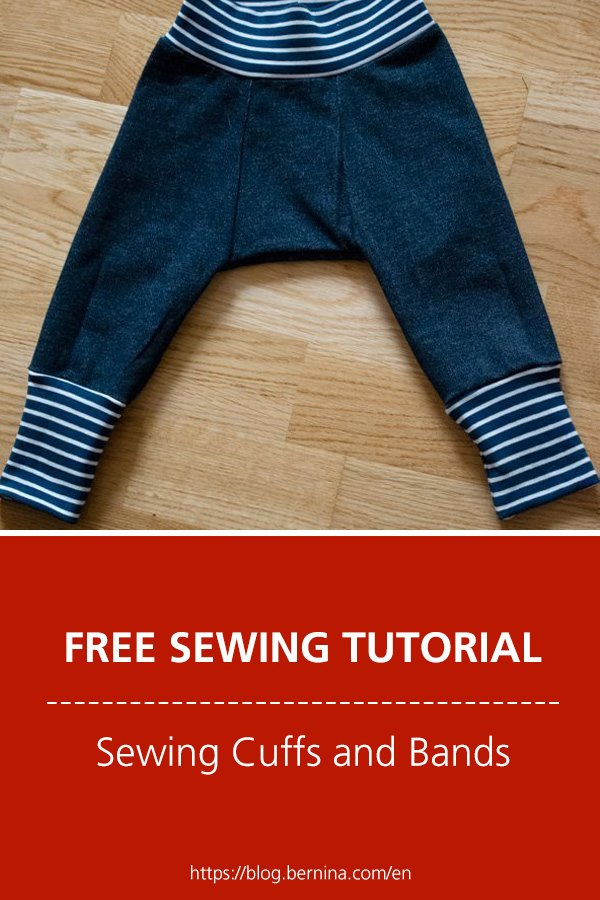 Tips for sewing with knits: Cuffs and Bands