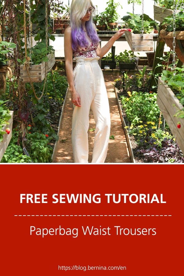 Free sewing instructions: Paperbag Waist Trousers