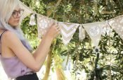 Quick and easy festive bunting