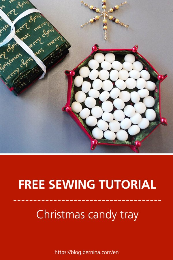 Free sewing tutorial: Christmas candy tray
