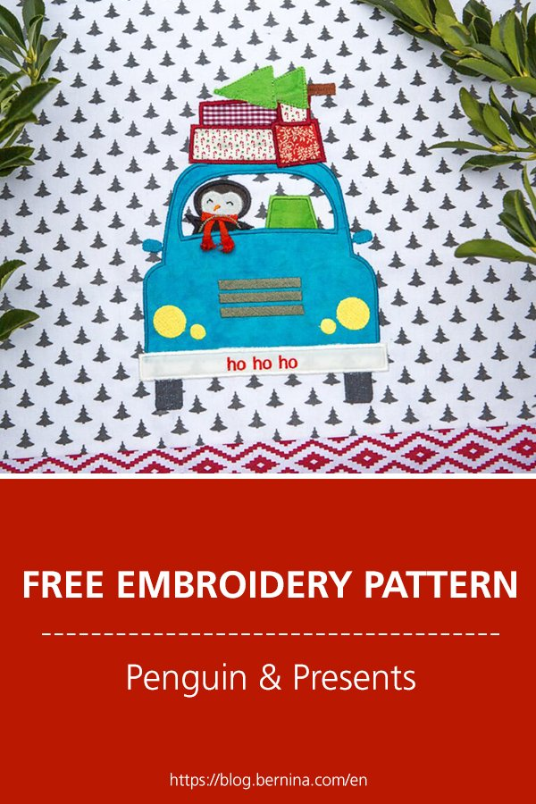 Free Christmas embroidery pattern #sewing #christmas #embroidery #winter #sewingprojects #bernina