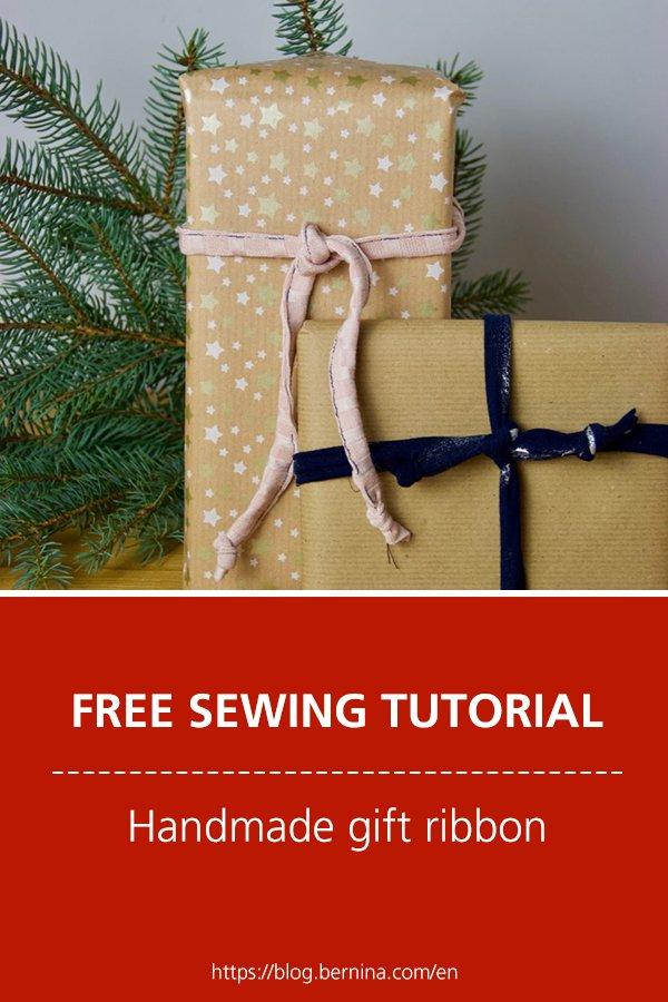 Free sewing tutorial: Handmade gift ribbon