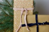 Self-sewn gift ribbon for your individual christmas wrapping
