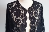 Easy instructions for sewing a lace bolero