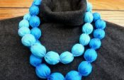 Easy instructions for creating jewelry from fine silk