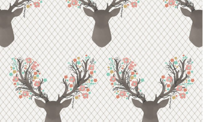 tulip deer pattern