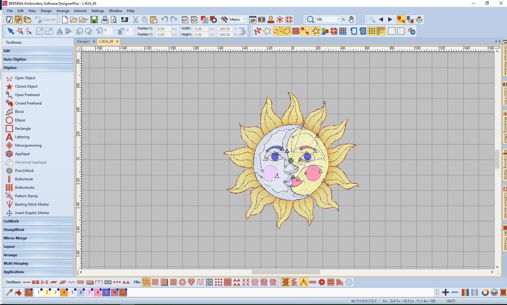 Lesson 7: BERNINA Embroidery Software V8: Transform Toolbar