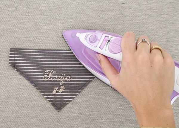 Halstuch bügeln
