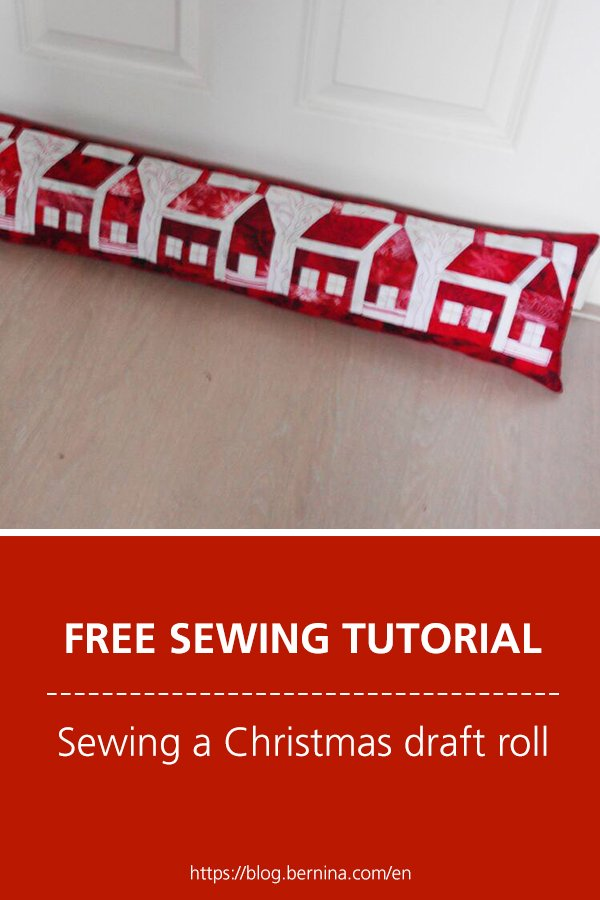 Free sewing tutorial: Sewing a Christmas draft roll