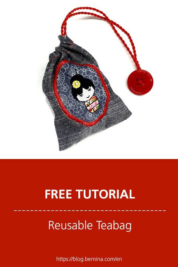 Free sewing tutorial: Reusable teabag