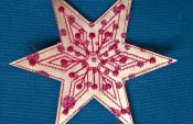 Easy instructions for an embroidered star decoration (with free embroidery template)