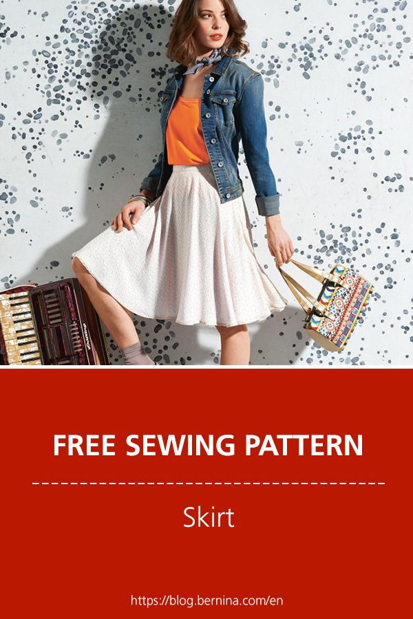 Free sewing pattern & instructions: Skirt
