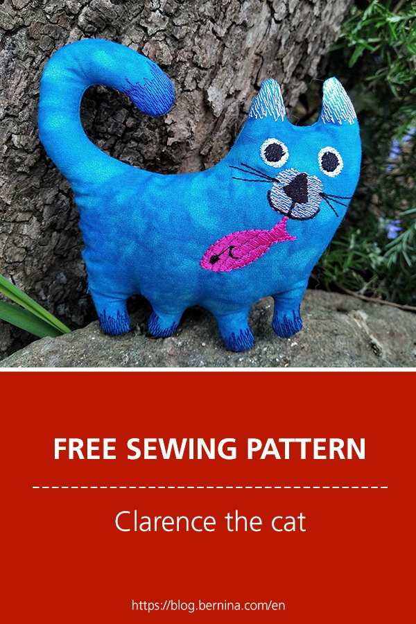 Free sewing pattern & instructions: Clarence the cat