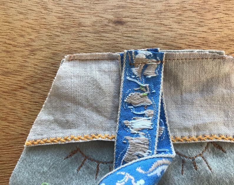 repurposed old napkin
