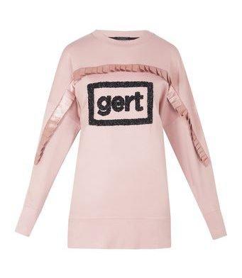Gert sweatshirt with satin pleat