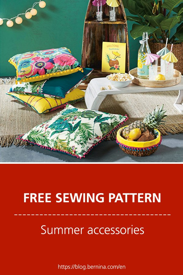 Free sewing pattern & instructions: Summer accessories