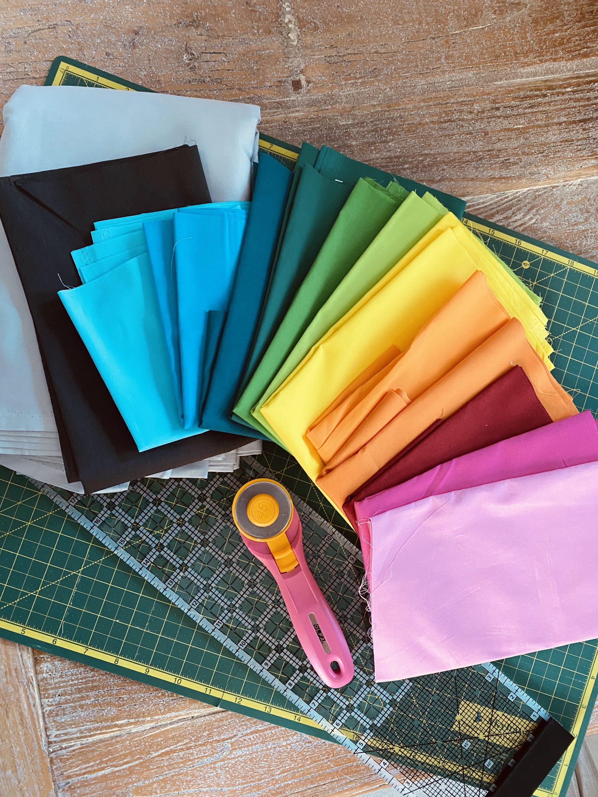 Multicolour Striped Fabric - Rummy | The Stripes Company