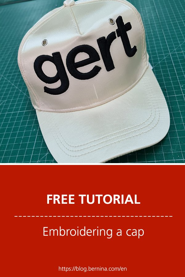 Free instructions: Embroidering a cap