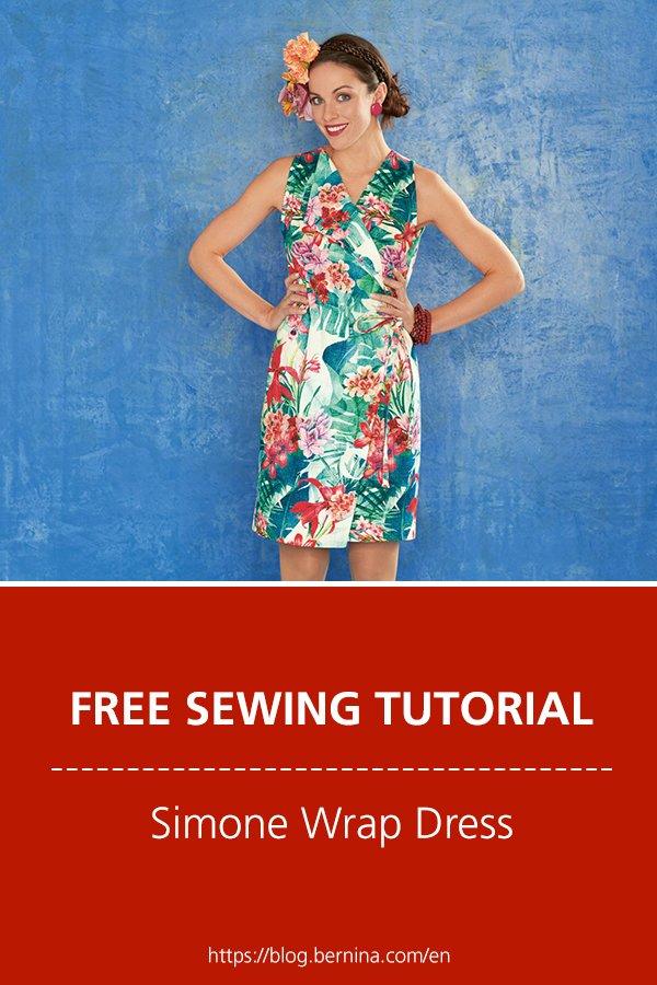 Free sewing pattern & instructions: Simone Wrap Dress
