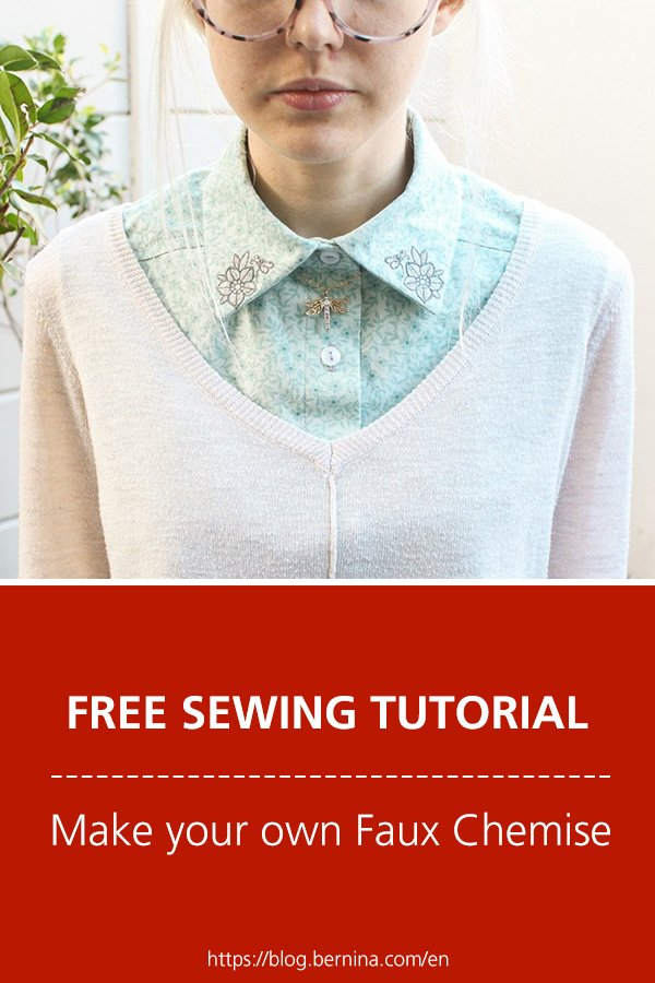 Free sewing tutorial: Make your own Faux Chemise