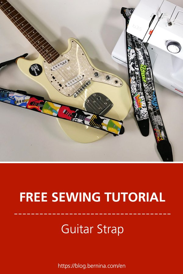 Free sewing instructions: Guitar Strap