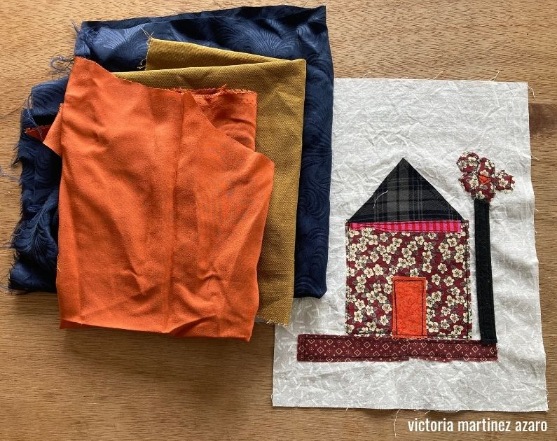 fabric collage la creative mama