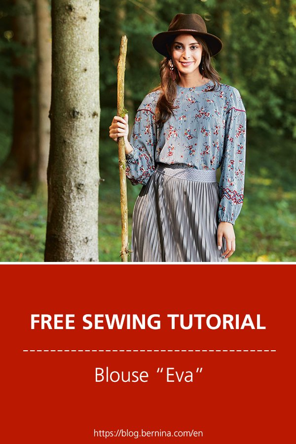 "Free sewing pattern & instructions: Blouse ""Eva"""