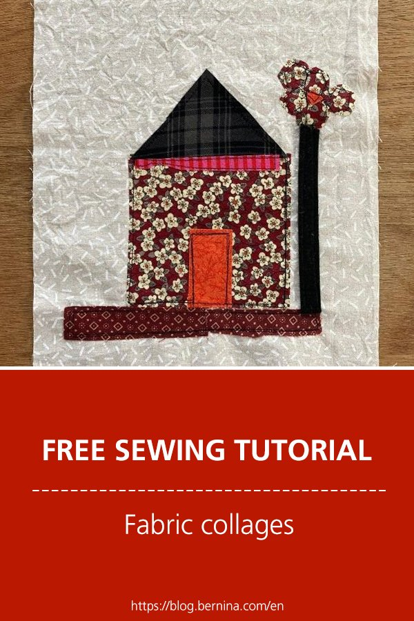 Free sewing tutorial: Creating a fabric collage from scraps