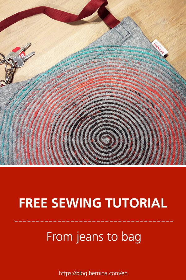 Free sewing tutorial: From jeans to bag
