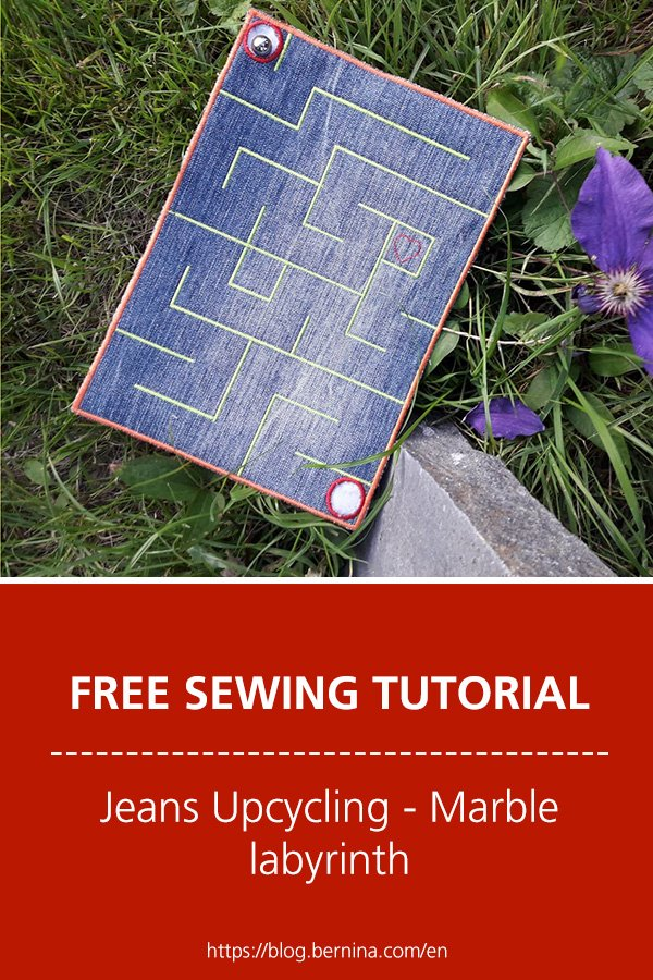 Free sewing instructions: Jeans Upcycling - Marble labyrinth
