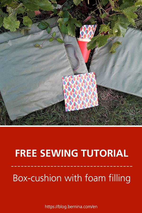 Free sewing instructions: box-cushion with foam filling