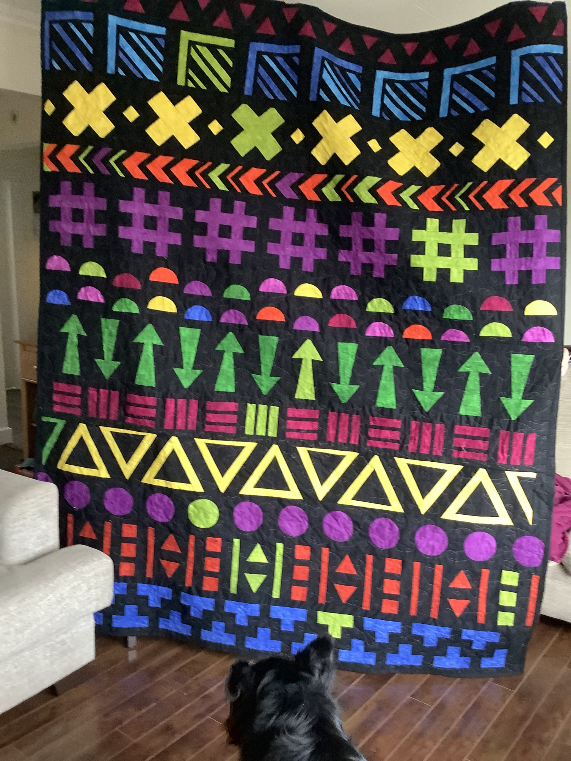 My finished quilt. I learned so much!