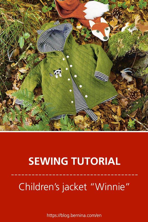 """Free sewing instructions: Children's jacket """"Winnie"""""""