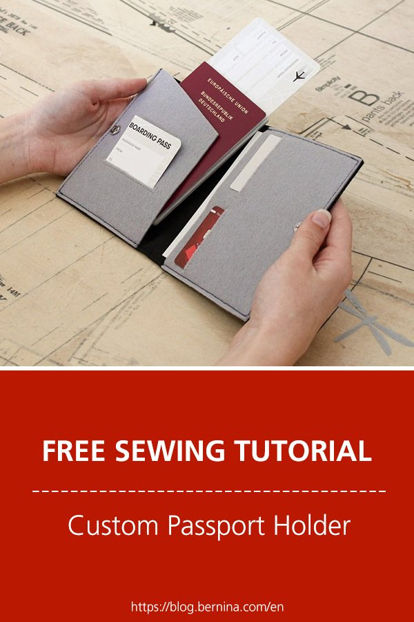 Free sewing pattern & instructions: Custom Passport Holder