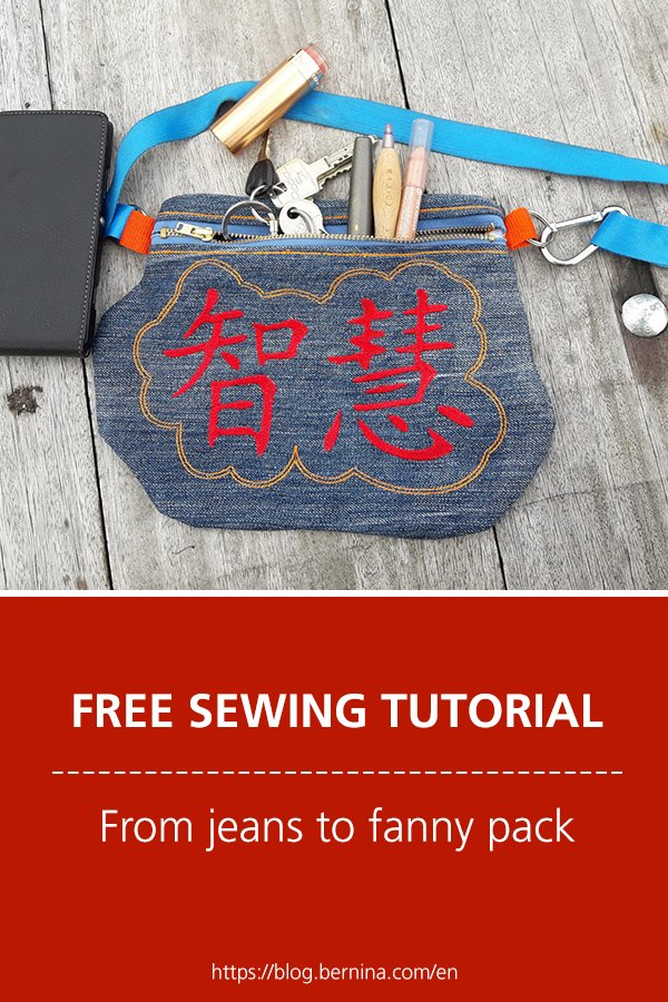 Free sewing tutorial: From jeans to fanny pack