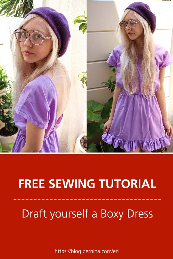 Free sewing tutorial: Draft yourself a Boxy Dress