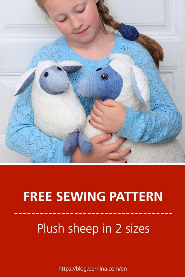 Free sewing pattern & instructions: Plush sheep in 2 sizes