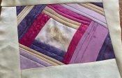 quilt with silk scraps