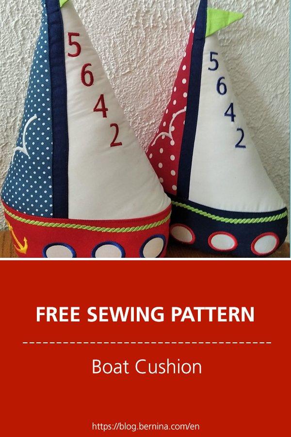Free sewing tutorial: Boat cushion