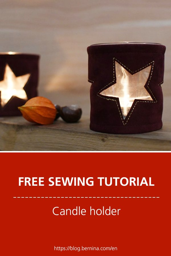 Free sewing instructions: Candle holder