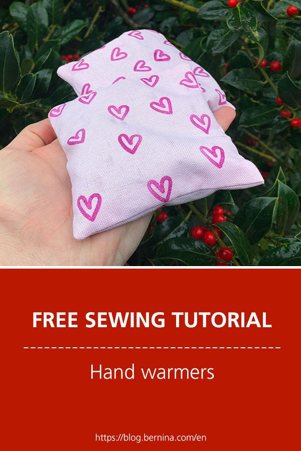 Free sewing instructions: Hand warmers