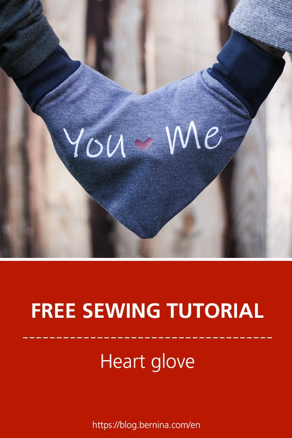 Free sewing instructions: Heart glove