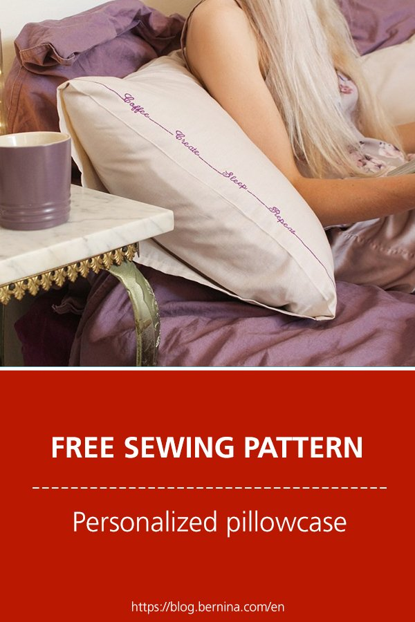 Free sewing pattern & instructions: Personalized pillowcase