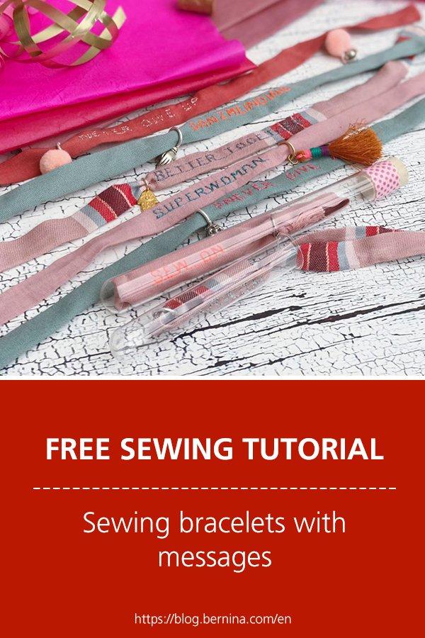Sewing bracelets